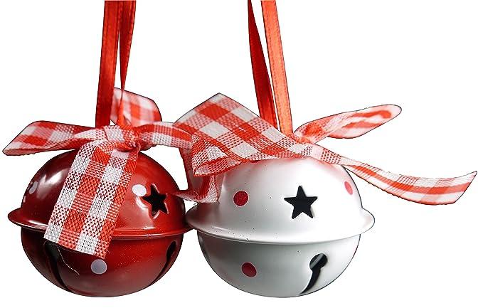 6 opinioni per khevga campane di metallo decorative per l'albero di Natale