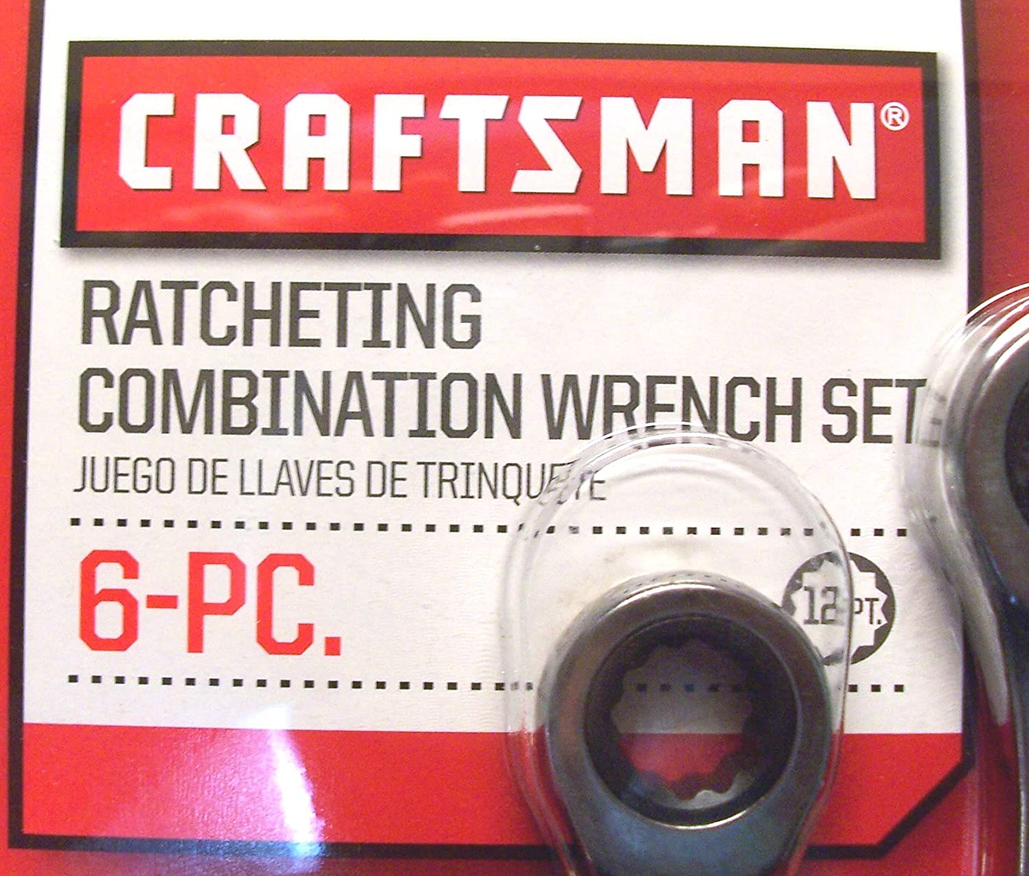 Ratcheting Wrench Set 46628 SAE Craftsman 6 Piece Inch