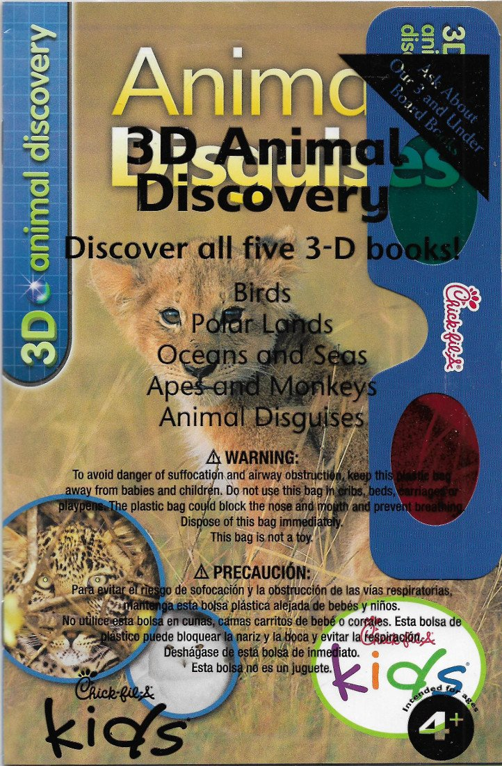 Chick-fil-A 3D Animal Discovery: Animal Disguises Paperback – 2014