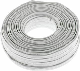 Seki 312645Câble Haut-Parleur Plat 2x 1,5mm² Blanc 50m