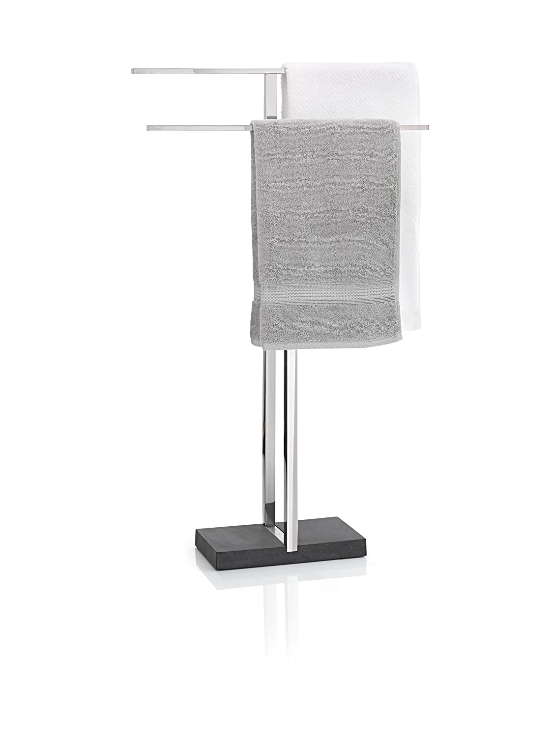 Blomus Floor Standing Towel Rack Stand, Polished Stainless Steel 68664