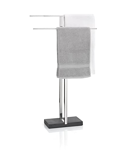 floor towel rack. Blomus Floor Standing Towel Rack Stand, Polished Stainless Steel Floor Towel Rack