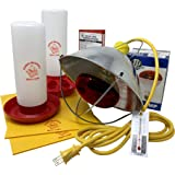 Chick Brooder Accessory Kit - Includes Feeder, Waterer, Lamp, Bulb, & Thermometer