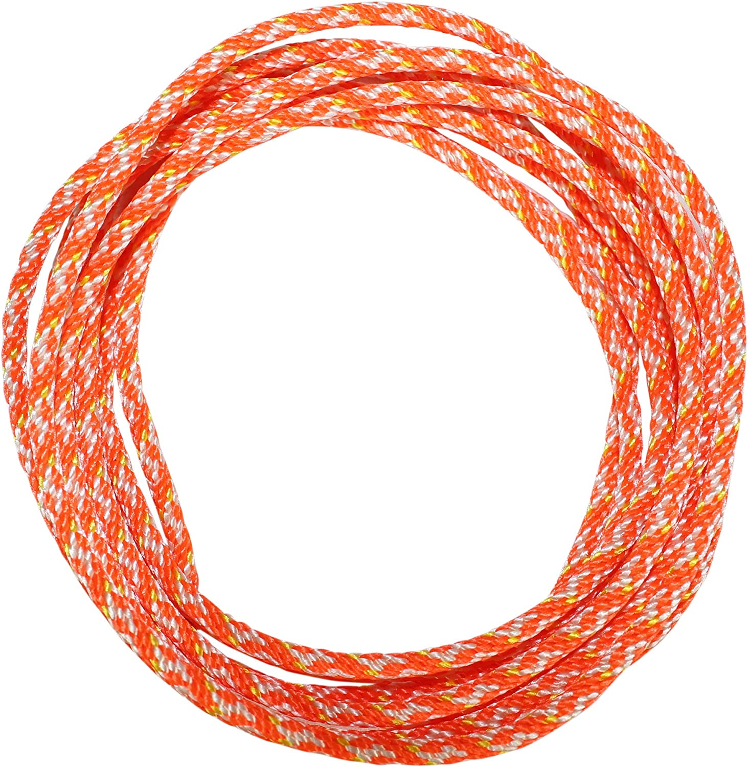 Generators Dacron Polyester Pull Cord - SGT KNOTS Small Engine Starter Rope 100 feet, Orange Replacement Cord Rope for Lawn Mowers Leaf Blowers Snowblowers #6 More Solid Braid Rope