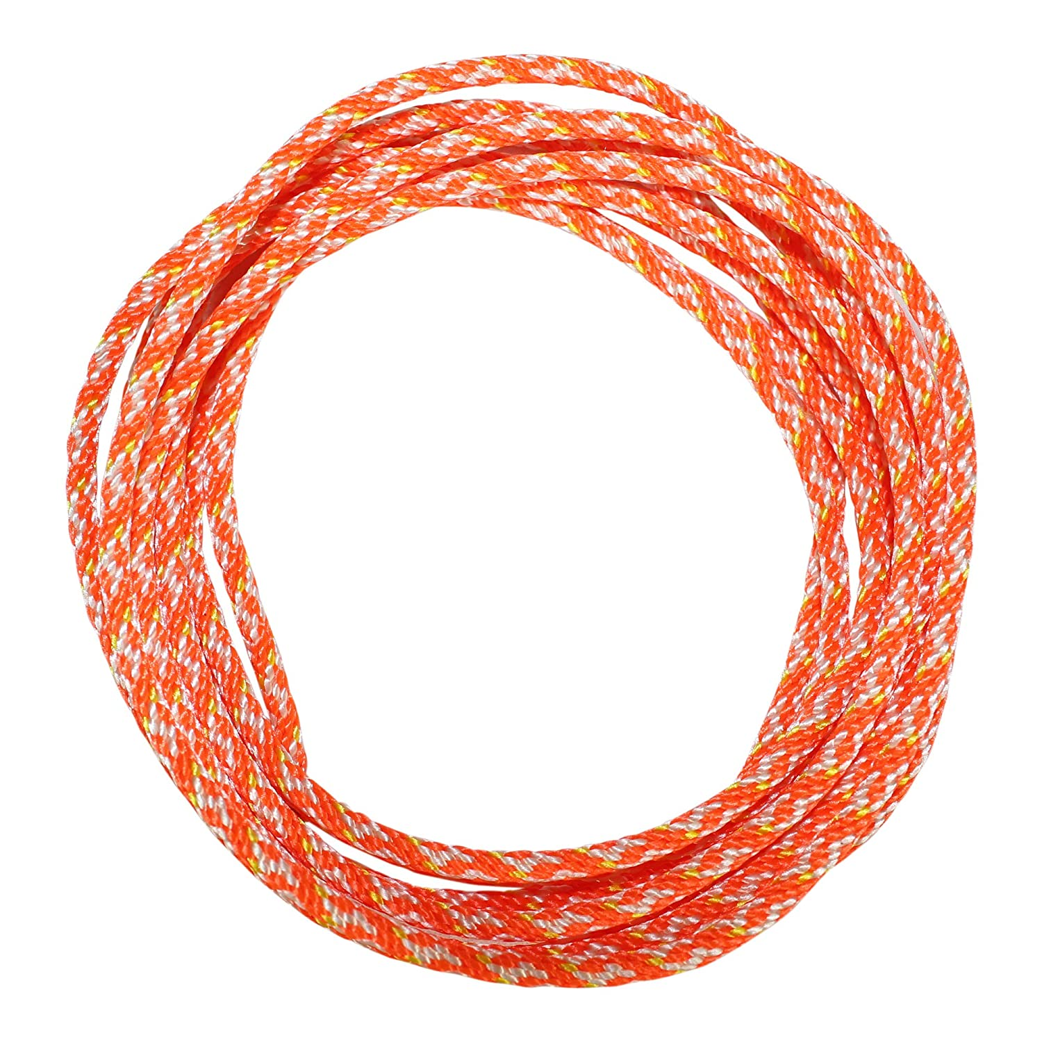 More Dacron Polyester Pull Cord Solid Braid Rope #4 Replacement Cord Rope for Lawn Mowers - SGT KNOTS Snowblowers 50 feet, Orange Small Engine Starter Rope Leaf Blowers Generators
