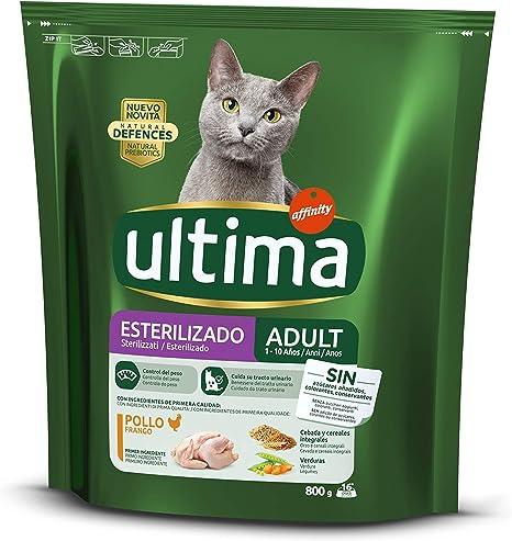 Ultima Pienso para gatos esterilizados adultos con pollo y cebada ...