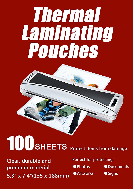 Papel Laminas Plastificar Paquete de 100 2x125mic Hojas Fundas Plastificar para Foto Tarjeta Documentos Sellada Halcent 6,6x9,5cm Plasticos Para Plastificar