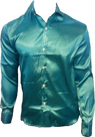 Camisa Formal - para Hombre Turquesa Verde Claro: Amazon.es: Ropa y accesorios