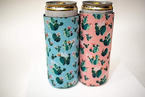 Nevera de neopreno para latas de garra blanca, compatible con ...