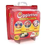Egglettes - Egg Cooker Hard & Soft Maker, No Shell, Non Stick Silicone, Poacher, Boiled, Steamer, AS SEEN ON TV.