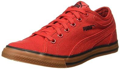 Puma Unisex Yale Gum Solid Idp Black-High Risk Red Sneakers - 3 UK ... b91e12a13