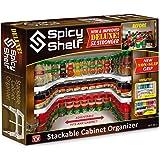 Spicy Shelf Deluxe – Estante expansible para especias y gabinete apilable y organizador de despensa (1 juego de 2 estantes) – como se ve en la televisión