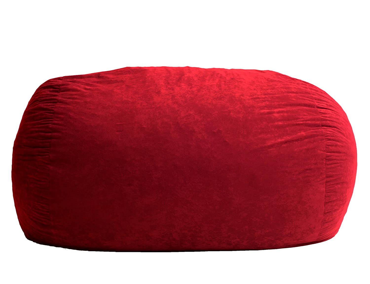 Amazon.com: Big Joe XL Fuf Foam Filled Bean Bag Chair, Comfort Suede,  Sierra Red: Kitchen U0026 Dining