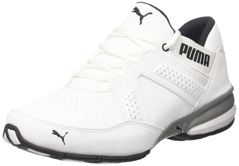 Puma Enzin SL, Zapatillas de Deporte para Exterior para Hombre 45 EU Blanco (White-black)
