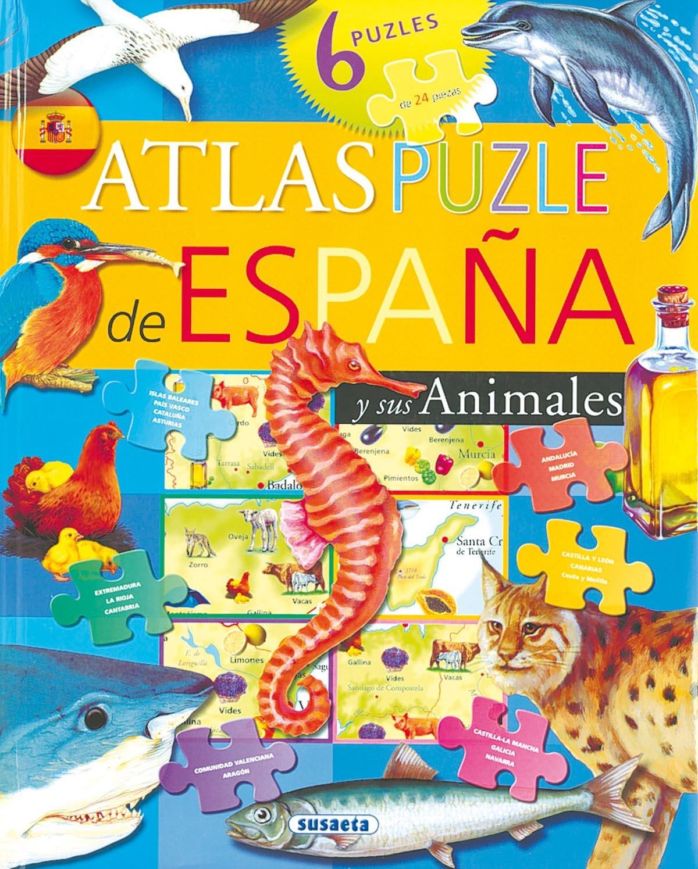 Atlas puzle de España y sus animales: Amazon.es: Susaeta, Equipo ...