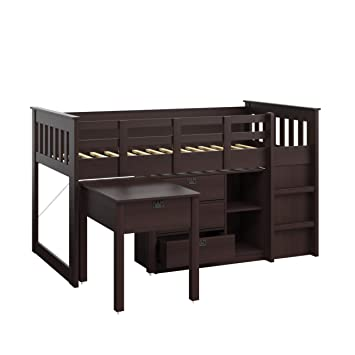 Amazon Com Corliving Bmg 370 B Madison Loft Bed With Desk And