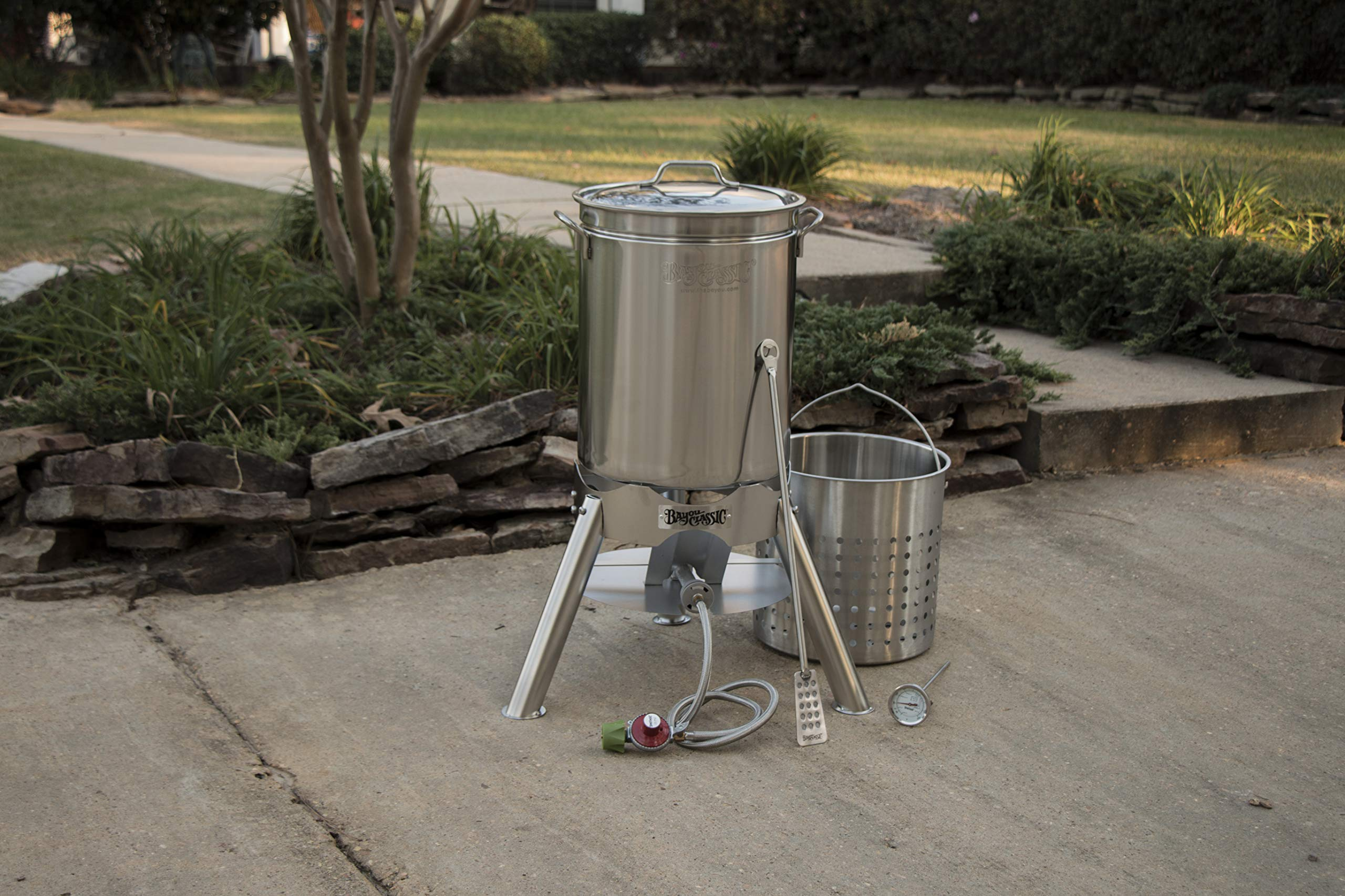 Bayou Classic 800-144 44 quart Boil and Brew, Stainless by Bayou Classic