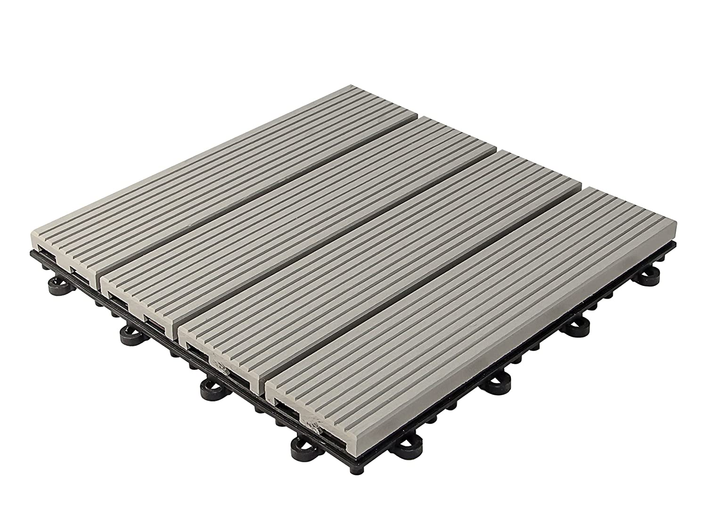 30 x 30 x 2,8 cm Grau Plastoform florco WPC Klickfliese