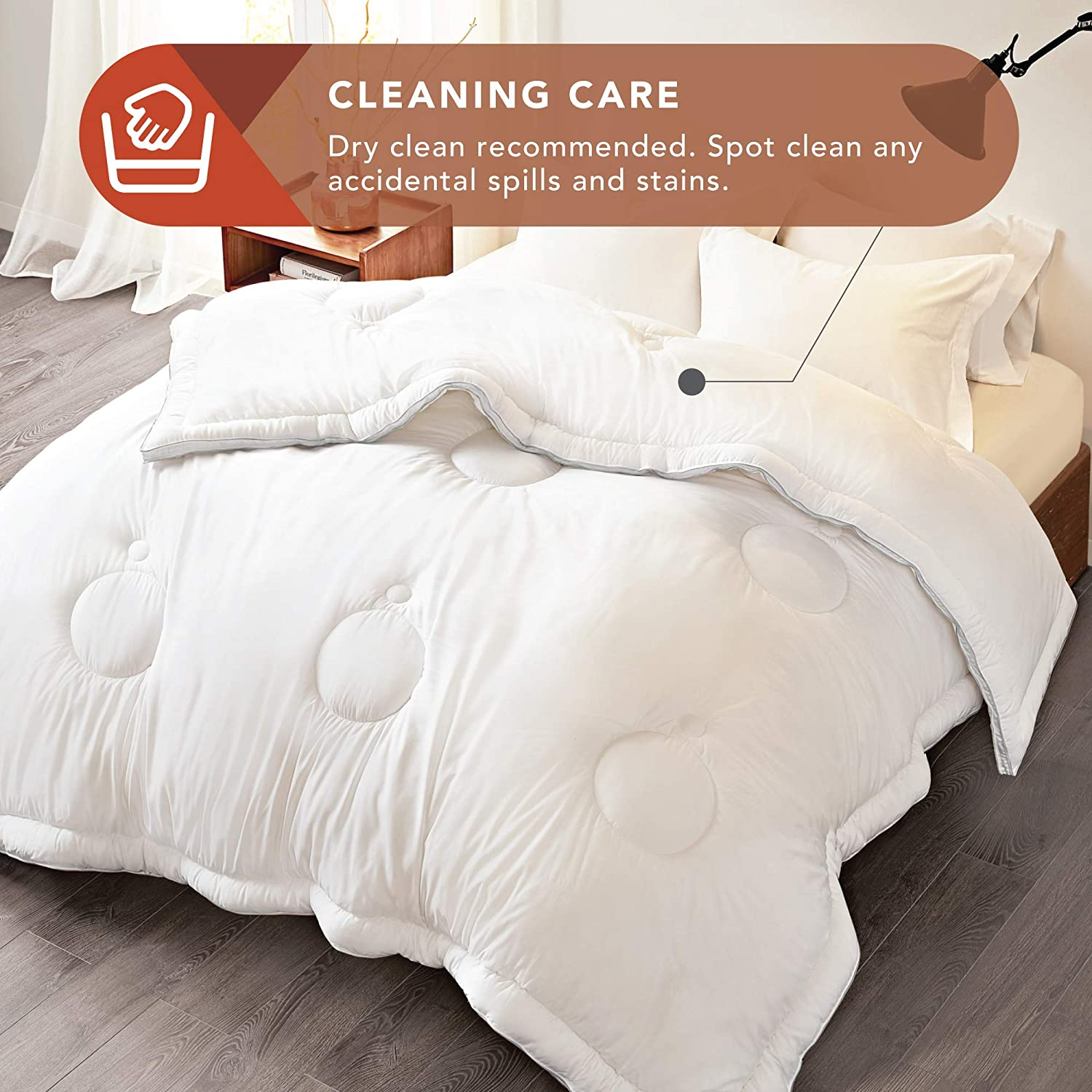 Forever Fluffy Eco Friendly Twin//Twin XL Silky Soft White Down Alternative Comforter for Hot Sleepers-Plushest Breathable Stand-Alone Quilted Eucalyptus Blanket Codi All-Season Cooling Comforter