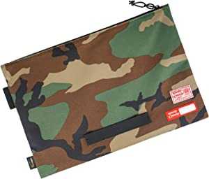 Rough Enough Document Safe File Folders Organizer for Legal Pads Letter Size A4 Bag Paper 8.5 x 11 Manila Notebook Large Zipper Carrying Case Pouch for Filing Office Storage Waterproof Military Camo