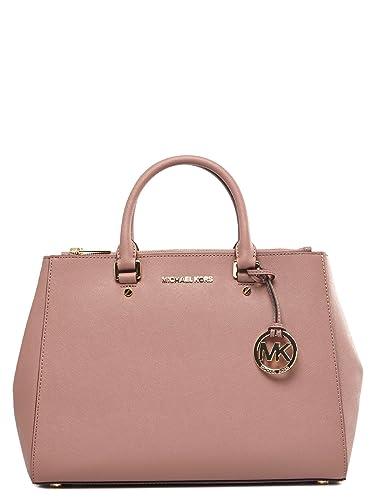 cd52e8a1a1 Michael Kors Borse Donna Sutton - Pink - One Size: Amazon.co.uk: Clothing