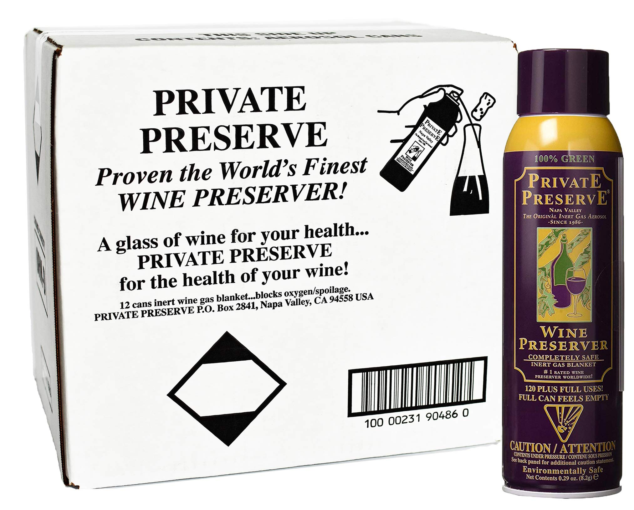 Private Preserve Wine Preservation System- Case Pack - 12 Cans by Private Preserve