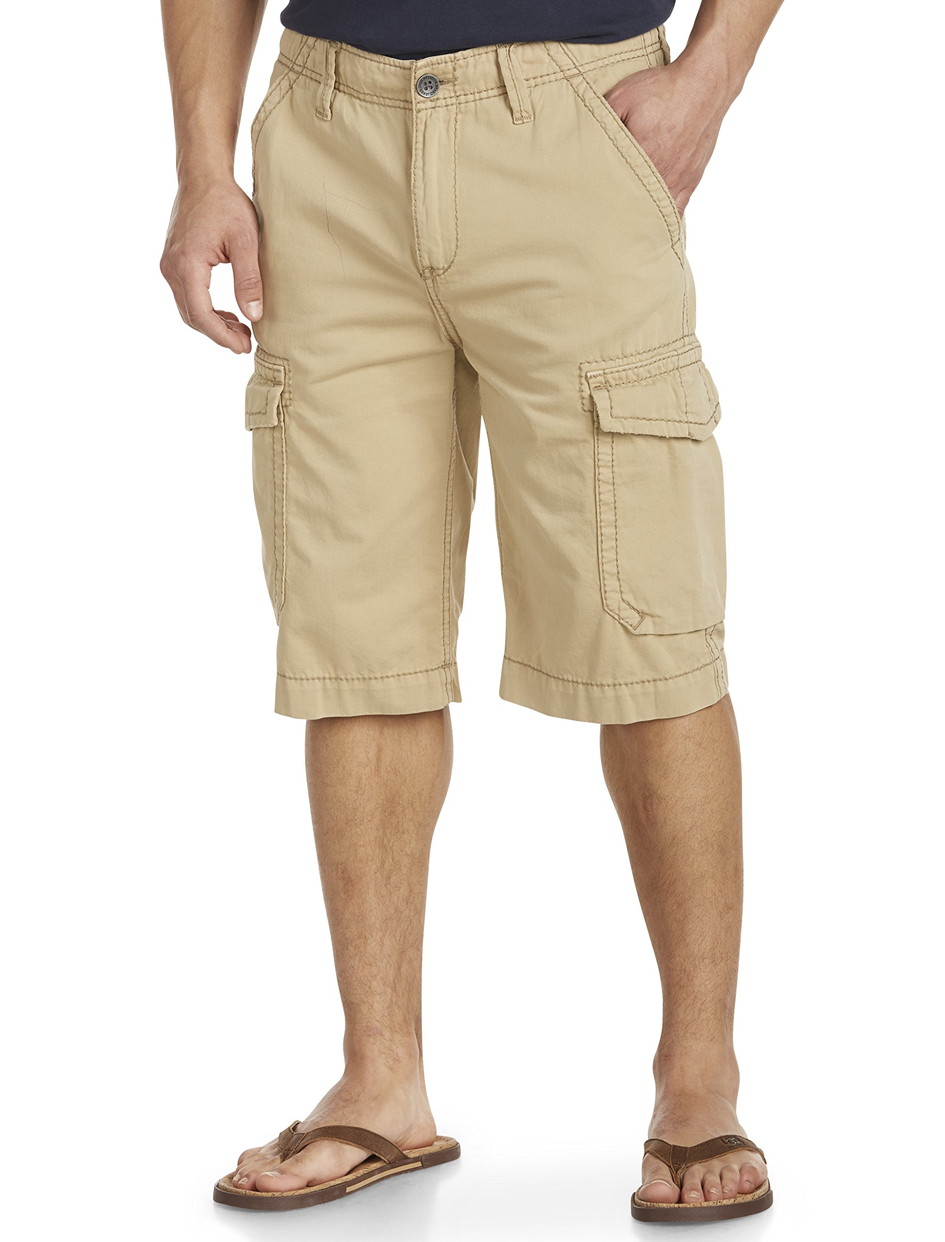True Religion Big and Tall Trooper Cargo Shorts (50, Khaki)