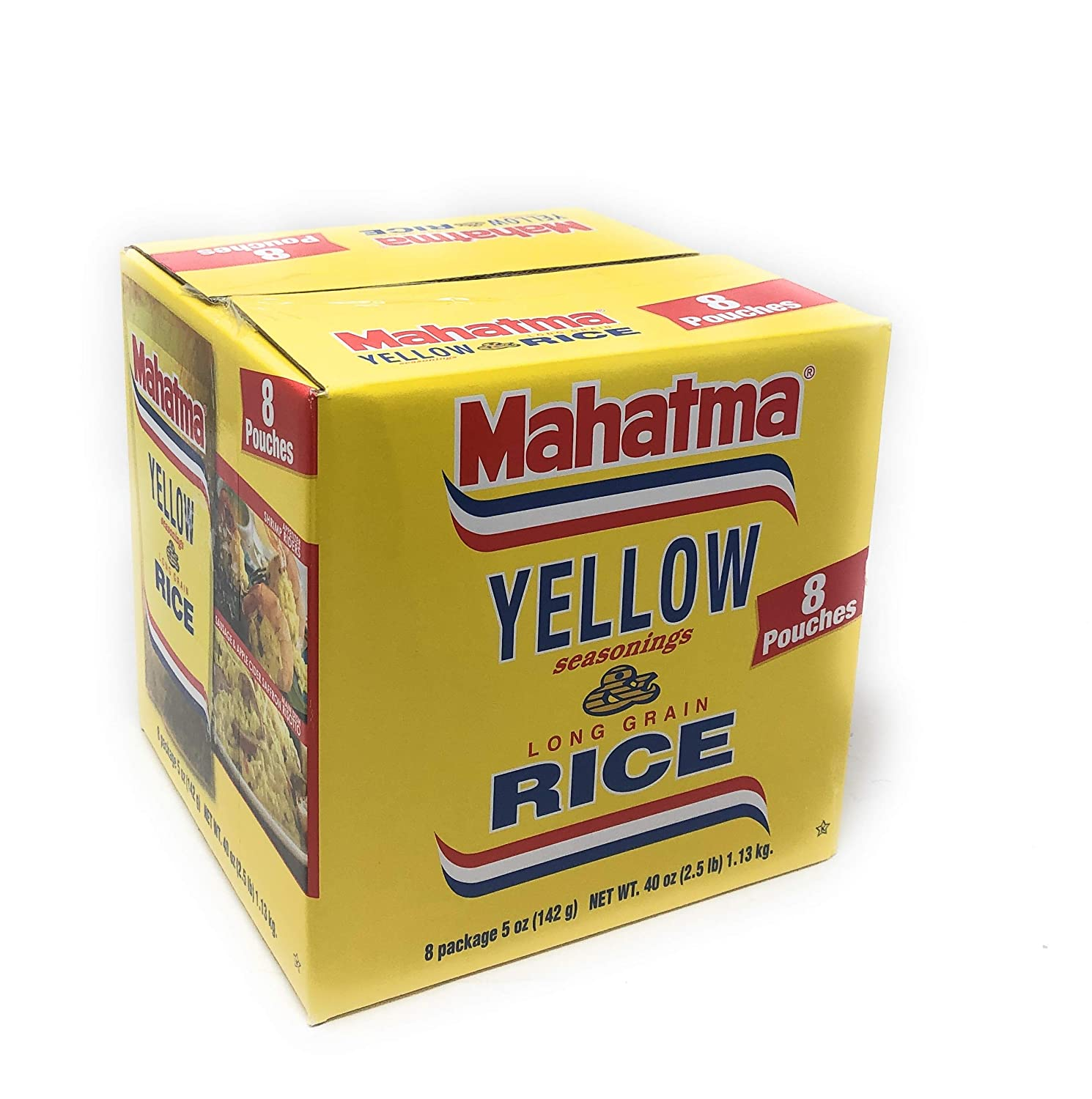 Amazon Com Mahatma Saffron Yellow Rice With Seasoning 5 Oz 8 Pouches Grocery Gourmet Food
