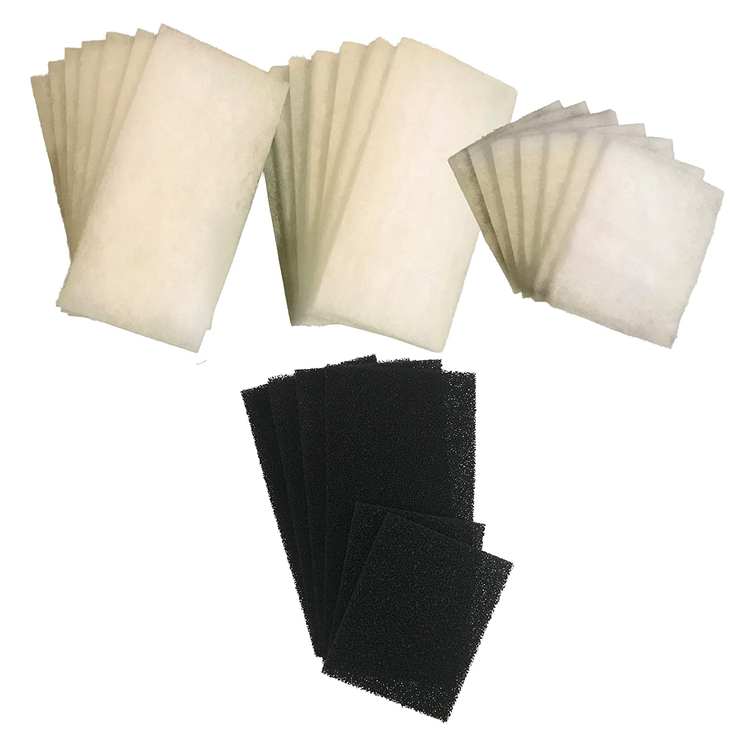 21 x AquaOne 980   980T Compatible Deluxe Poly Wool Filter Pads (7 Sets) and 6 X Carbon Filter Pads
