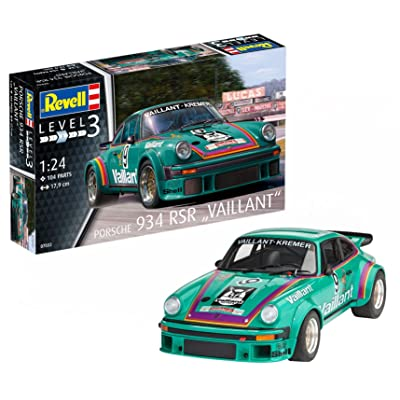 "Revell 07032 ""Porsche 934 RSR Vaillant Model Kit: Toys & Games"