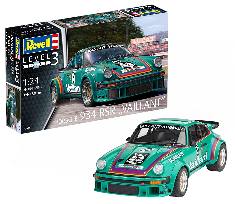 Revell Maqueta Porsche 934 RSR Vaillant, Kit Modelo, Escala 1:24 (07032), Color Petrol, 17,9 cm de Largo (: Amazon.es: Juguetes y juegos