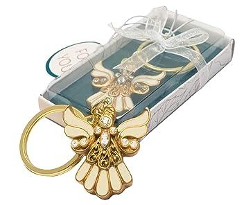 Amazon.com: Llavero con diseño de ángel dorado Regalos para ...