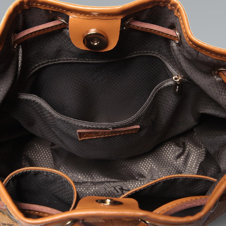 Amazon nucelle drape map print shoulder handbag bucket bag amazon nucelle drape map print shoulder handbag bucket bag satchel beige shoes gumiabroncs Gallery