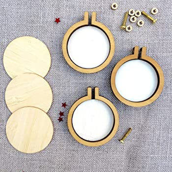 INSANY Small Ring 8-Piece Wooden Embroidery Hoops