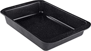 Prestige 47729 Nonstick Roasting Pan/Roaster, 10 Inch x 14 Inch, Black with Gold Speckle
