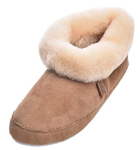 Cuffed Ladies Soft Soled Sheepskin