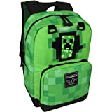 "JINX Minecraft 17"" Creepy Creeper Kids Backpack - Green"