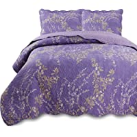 KASENTEX Quilt-Bedding-Coverlet Sets, Pre-Washed Colorful Microfiber Fabric Design with Shams