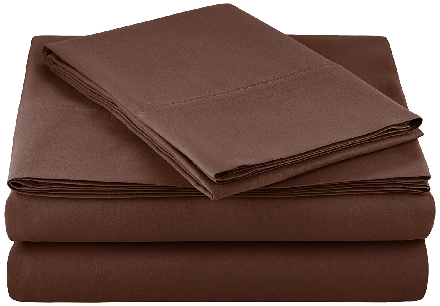 AmazonBasics Microfiber Sheet Set - Twin, Chocolate