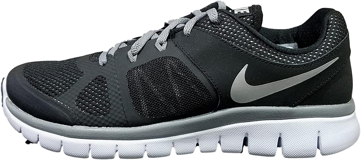 Nike Flex 2014 Run (GS) Laufschuhe wolf grey-metallic silver-purple haze-hydrangeas - 37,5: Amazon.es: Deportes y aire libre