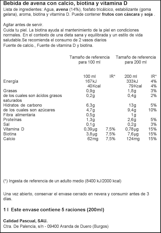 Vivesoy - Bebida de avena - 1 L - , Pack de 6: Amazon.es: Alimentación y bebidas