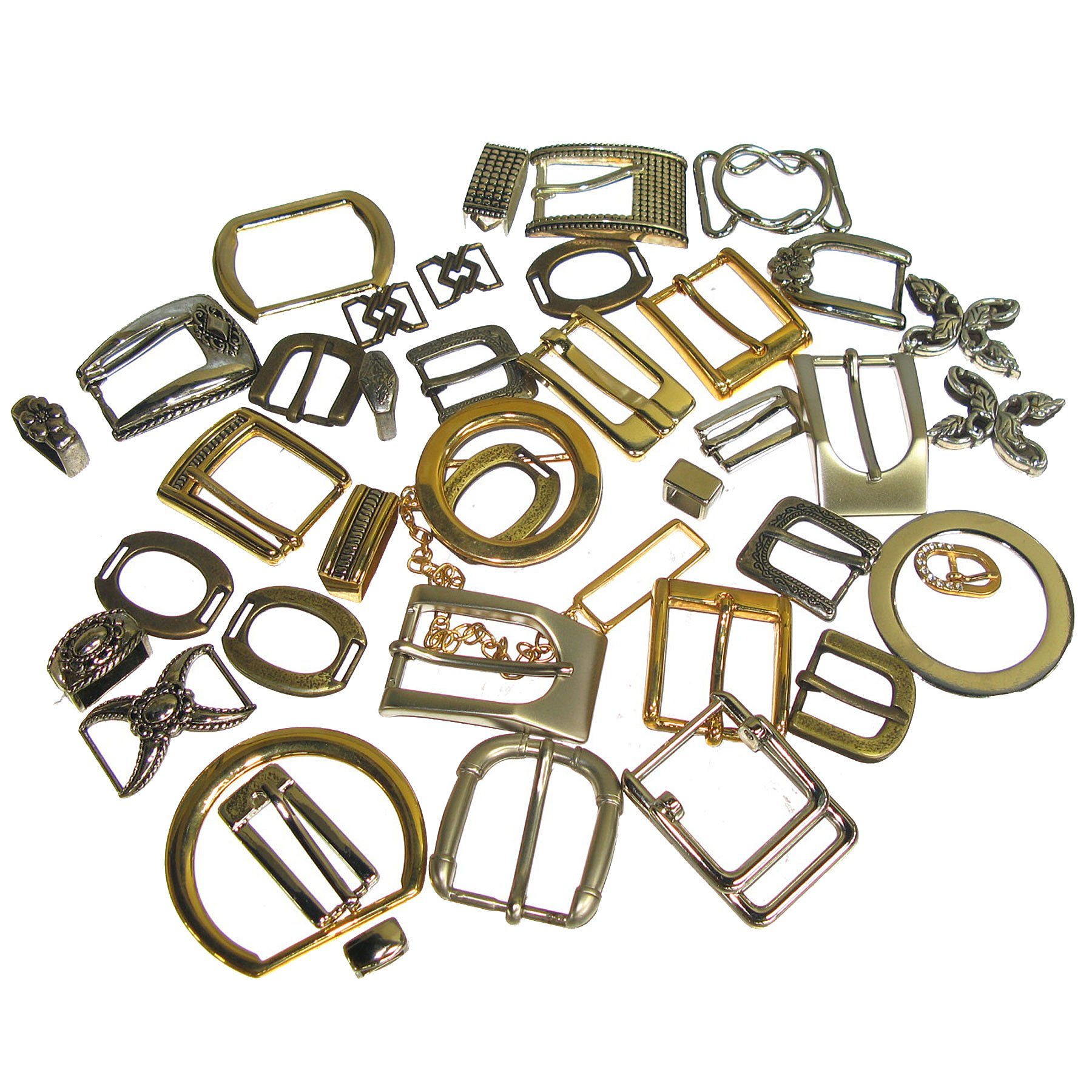 Clearance Assorted Buckle and Hardware Pack Various Shape//Size Approx 25 Pieces