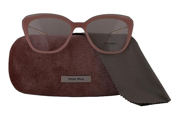 a7d80caf34 Miu Miu Authentic Eyeglasses MU02QV Pink w Clear Demo Lens VYB1O1 VMU02Q  (53mm)  Amazon.co.uk  Clothing