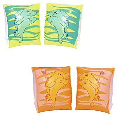 H2OGO! Inflatable Swim Dolphin Arm Bands: Toys & Games [5Bkhe0506439]