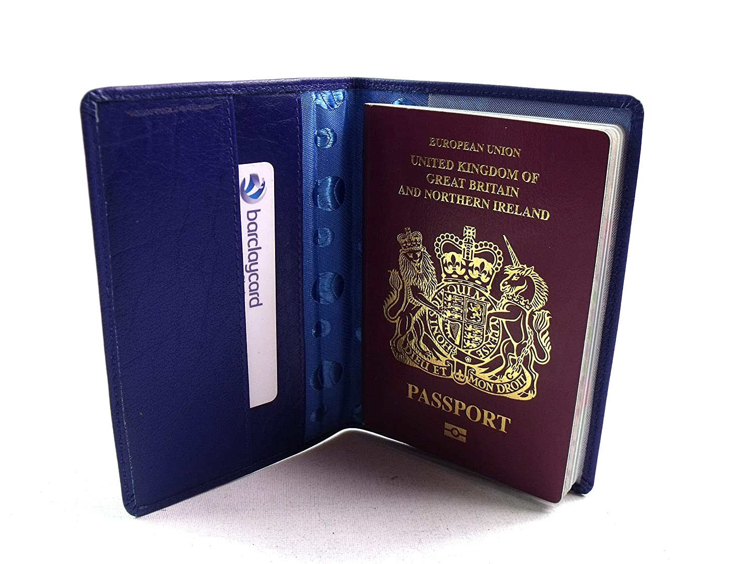 Travel Wallet In Various Colours Leather Emporium Soft Leather Passport Holder Blue