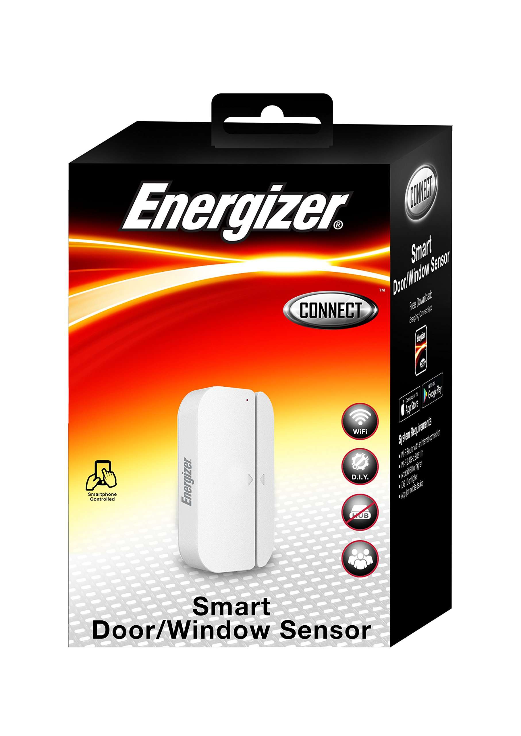 Energizer Connect WI-FI Smart Door/Window Sensor APP Included IOS & Android