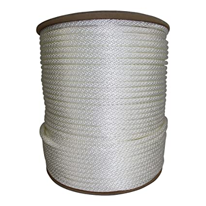 Halyard Rope - Solid Braid Dacron Polyester Flag Pole Rope - SGT KNOTS -  Braided Halyard Line/Flagpole Rope - for Sailboats, Sailing, Rigging, Flag