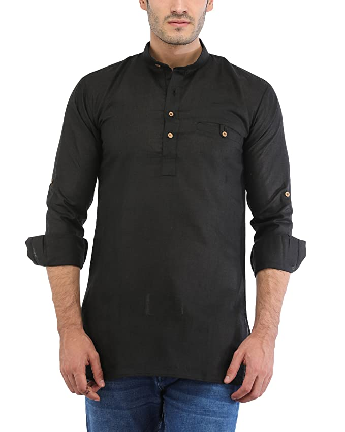 Trendy Trotters Men's Cotton Short Kurta Men's Kurtas at amazon