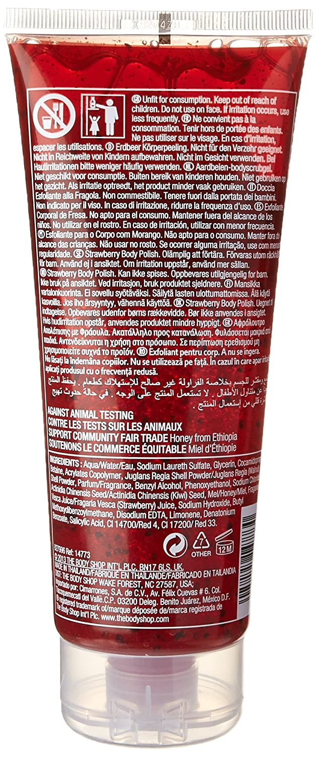 The Body Shop Body Polish Strawberry 6 75 Ounce By The Body Shop