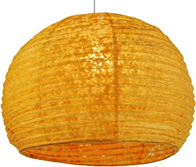 Guru Shade Shop Paper Lamp Half Light Round Pendant Lokta Corona k0PnwO